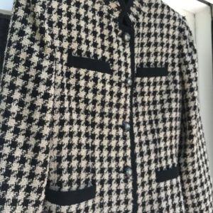 🌹3/$15 KASPER ASL Black/white Houndstooth jacket